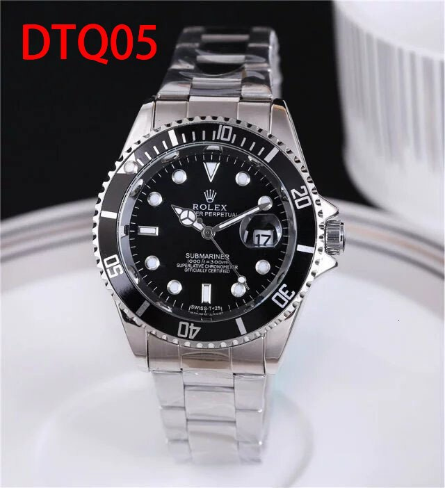 Top Luxury Brand Rolex Black Watch Men women Casual Male Watches Business Sports Military Stainless