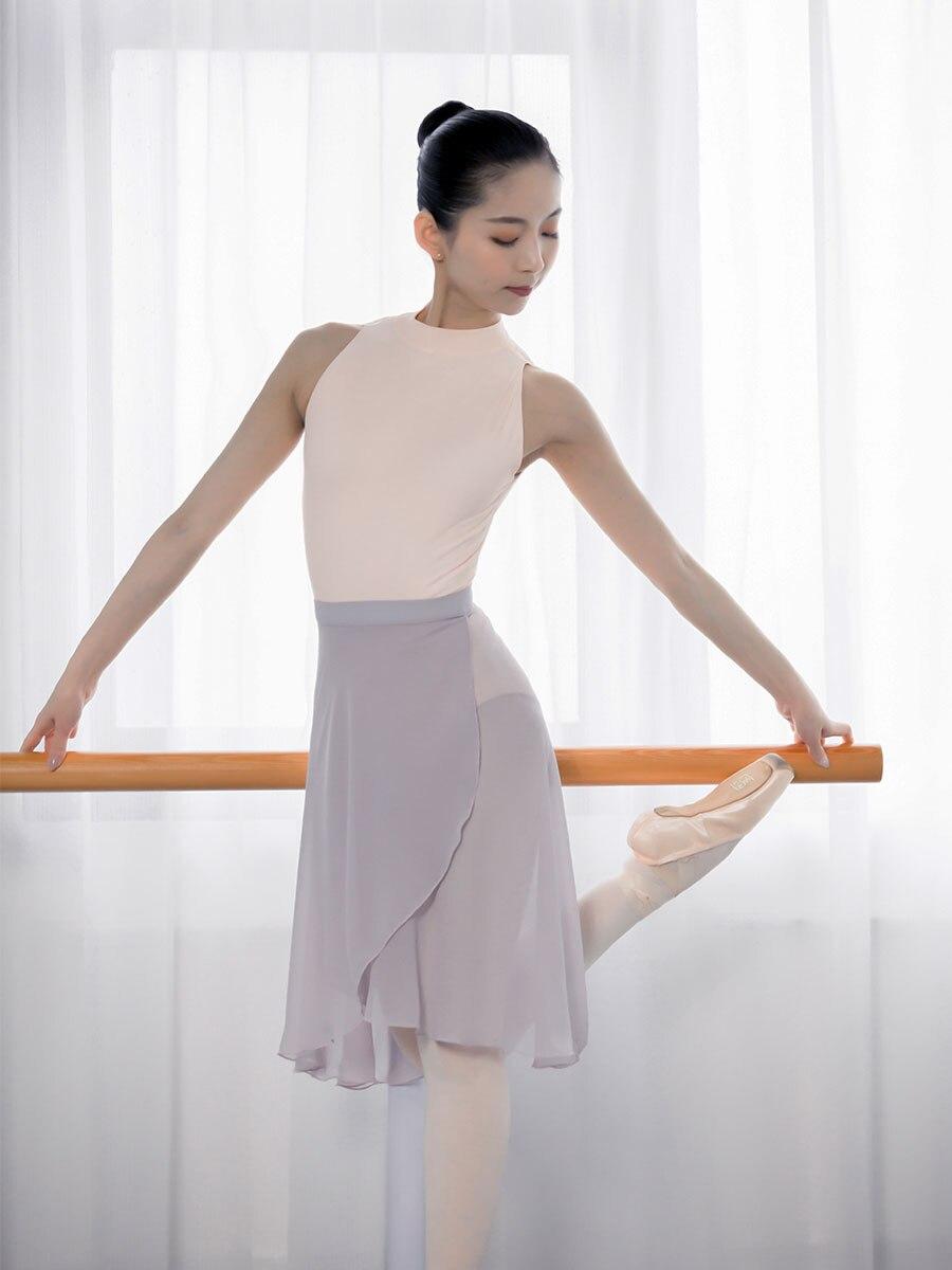 Profesional adultos largo medio de gasa faldas de Ballet mujeres Lyrical suave encaje Up Ballet vestido bailarina trajes de baile