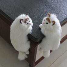 도자기 귀여운 봉제 고양이 아트 장식품 입상 홈 데스크 tv 교수형 장난감 시뮬레이션 고양이 그림 동상 홈 장식 공예품 선물