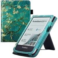 premium case for pocketbook 632 pluspocketbook 632 aquapocketbook 633 color ereader with standhand strapauto sleepwake