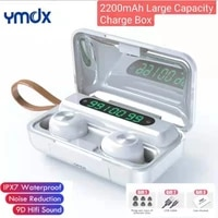 ymdx tws f9 bluetooth earbuds v5 0 stereo wireless headset sport waterproof earphones noise cancelling headset 2200mah charger