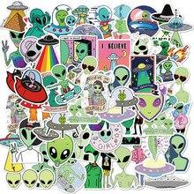 10/50 pièces nouveau Alien E.T UFO autocollants esthétique dessin animé Anime Graffiti Pegatinas valise valise étanche Naklejki