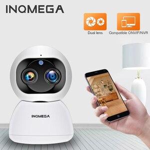 INQMEGA 1080P HD Dual-Lens Indoor Camera Wifi AI Auto Tracking Infrared Night Vision Mini Monitor Carecam App Support P2P ONVIF