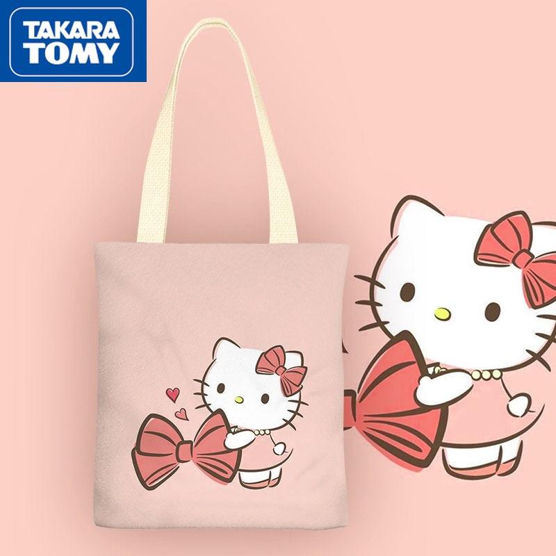 printio сумка hello kitty Новинка 2021, маленькая Холщовая Сумка Ms. TAKARA TOMY, простая мультяшная портативная Студенческая сумка для хранения Hello Kitty