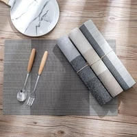 placemats dining place mat washable pvc kitchen accessories tableware cup wine mat non slip placemat heat insulation grid pad