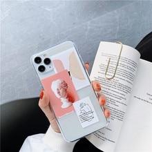 Art Letters Illustration Phone Cases For Samsung S20 S10 S8 S9 plus S10e A51 A71 a30 a80 a50 a70 a90 Note 8 9 10 Soft Back Cover