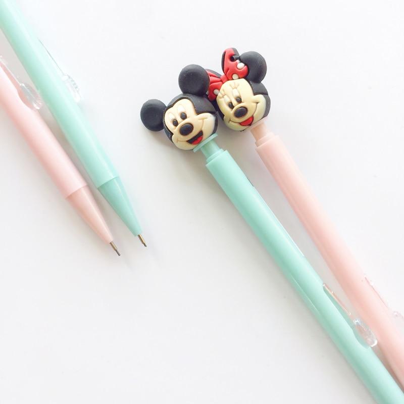 2x kawaii cartoon mouse mecânico lápis automático escrita escola material de escritório artigos de papelaria estudante 0.5mm