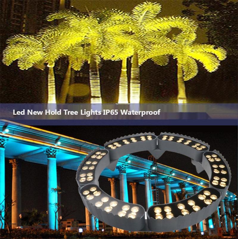 Hugging Tree Lamp Outdoor Spotlight Tree Lamp Landscape Lamp Park Waterproof Green Lights Colorful Floodlight 24V 48W 60W Lamps