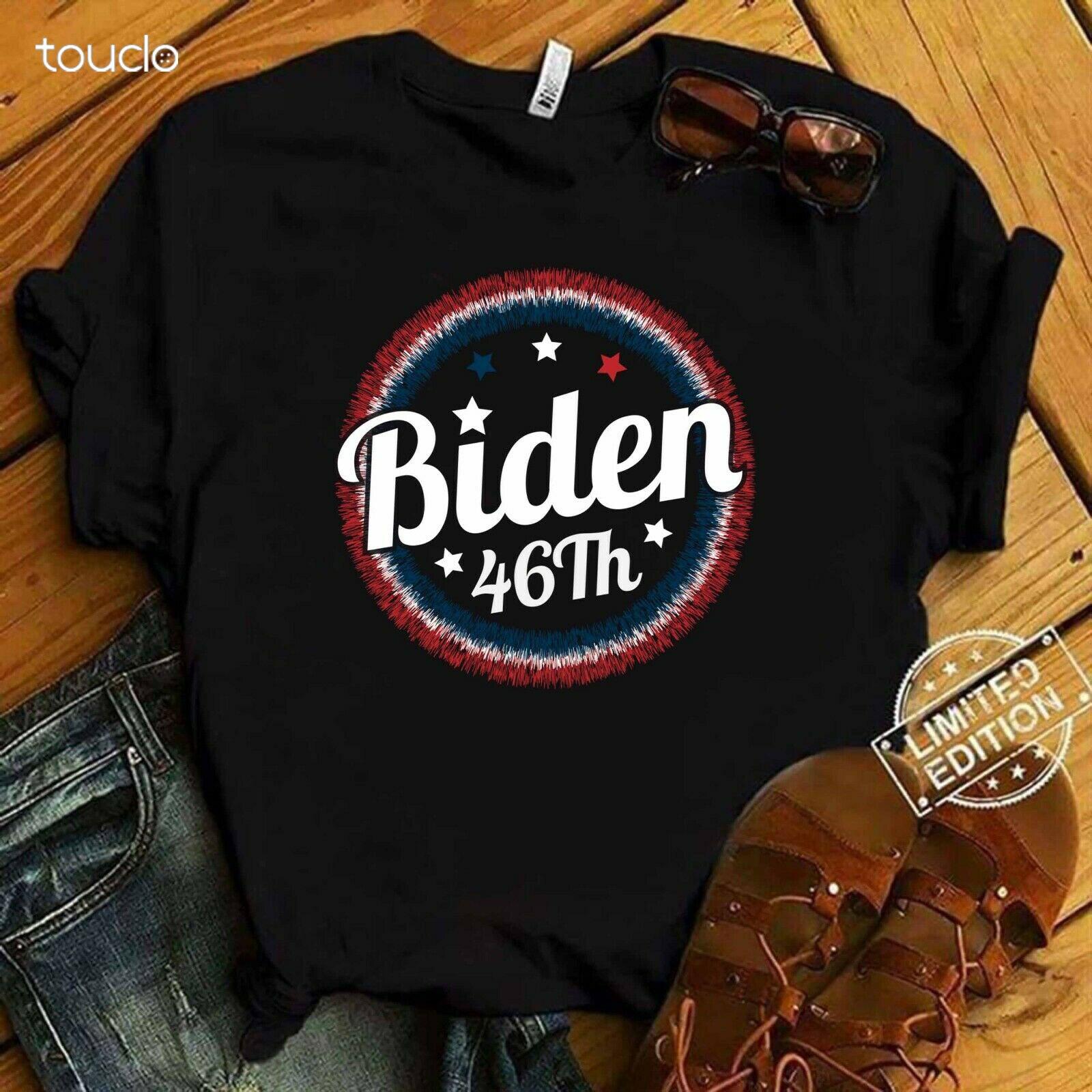 Biden Wins 46th President of America USA Flag Color 2020 T-Shirt, Unisex Tee