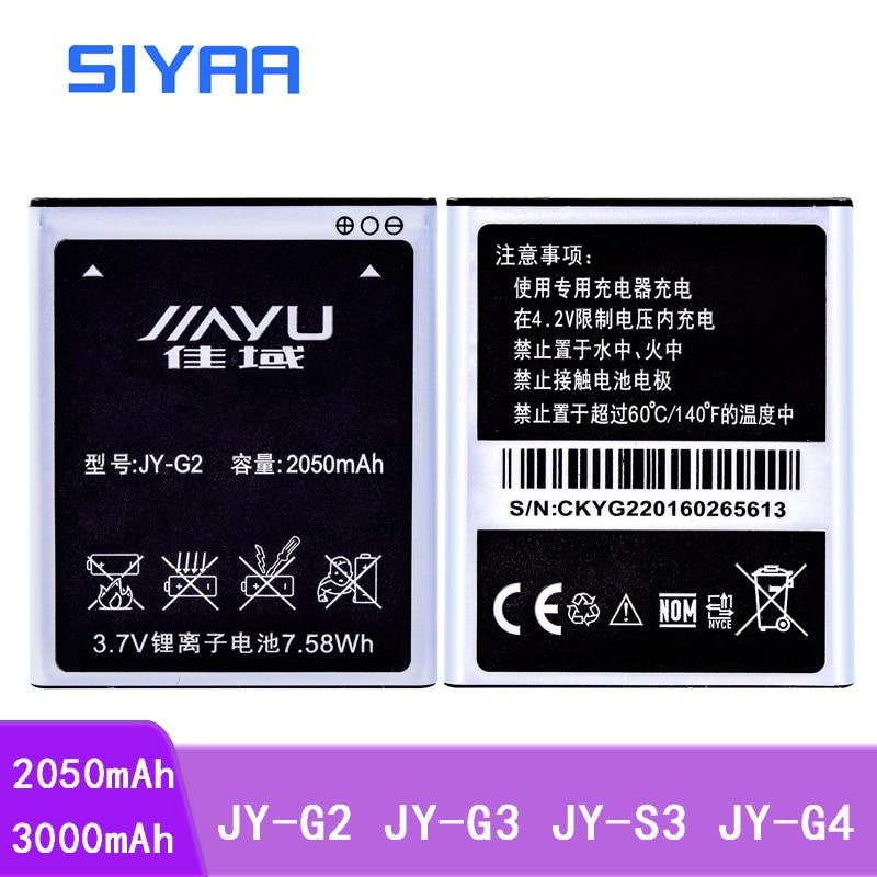 SIYAA נייד טלפון JY-G2 JY-G3 JY-S3 JY-G4 סוללה עבור JIAYU G2 JYG2 JYS3 JY S3 JY G4 S3 G4s G4 g4T JY-G3 JYG3 G3 Bateria