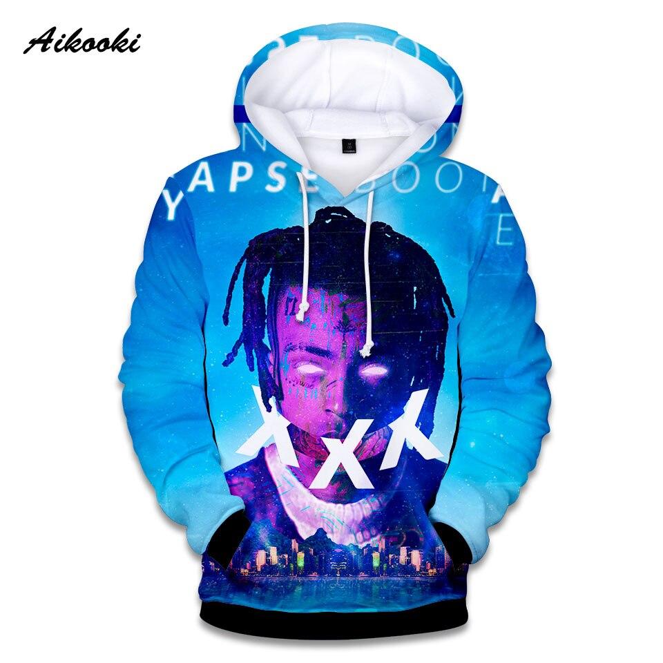 Xxxtentacion 3D Hoodies hombres tristes mujeres sudaderas rapero Hip Hop 3D Sudadera con capucha suéter Sweatershirts Swag Hoody Streetwear top