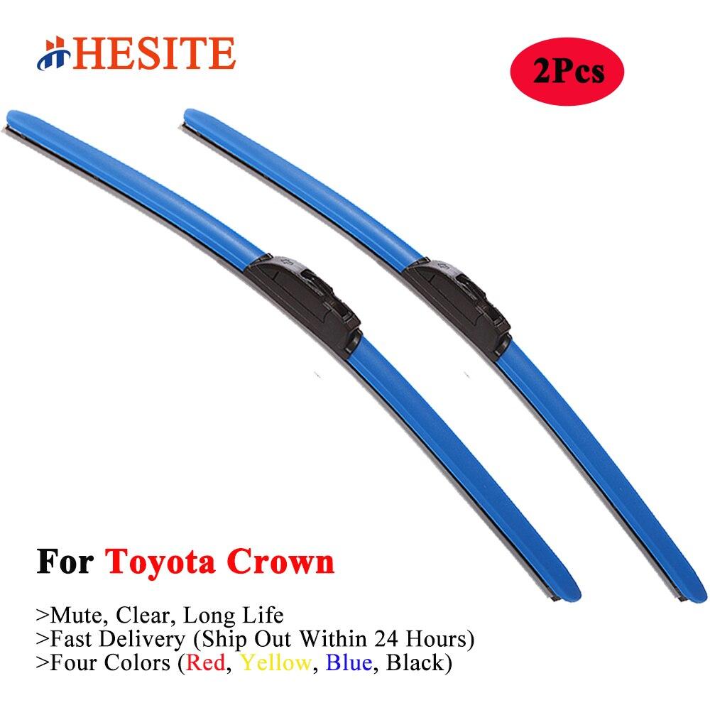 HESITE-escobilla de limpiaparabrisas híbrida colorida para Toyota Crown, Majesta Estate, Athletic V...