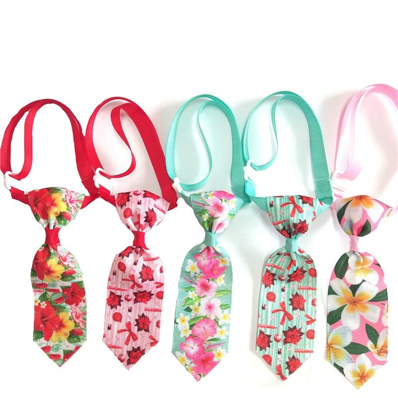 30/50pcs Colorful Flower Pet Dog Bowties Ties Pet Supplies Collar Puppy Cat Ties Neckties Small Dog Pet Cat Grooming Supplies