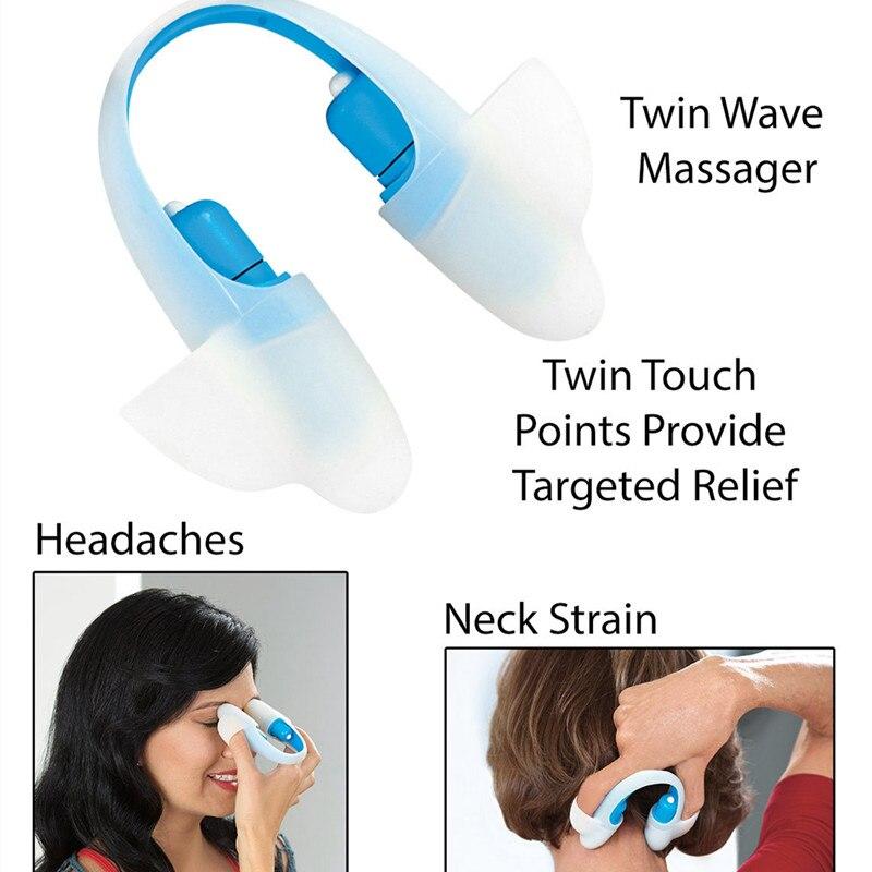 Masajeador de acupuntura de cuerpo completo vibratorio para aliviar el estrés, puntos táctiles dobles, relajación, cuidado de la salud, pérdida de peso