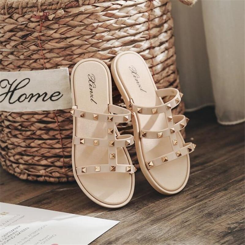 Zapatos de mujer, sandalias deslizantes para mujeres, sandalias de verano al aire libre, zapatos de mujer, zapatos deslizantes de lujo, zapatos de diseñador para mujer