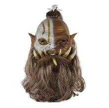 2019 New World of Warcraft Mask Ogrim Doomhammer Latex Mask Cosplay Party Halloween Masks
