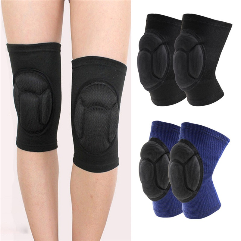 Nowa gąbka piłka nożna siatkówka ekstremalny sportowy ochraniacz na kolano Brace wsparcie pogrubienie osłona rzepki Protect Knee Protector