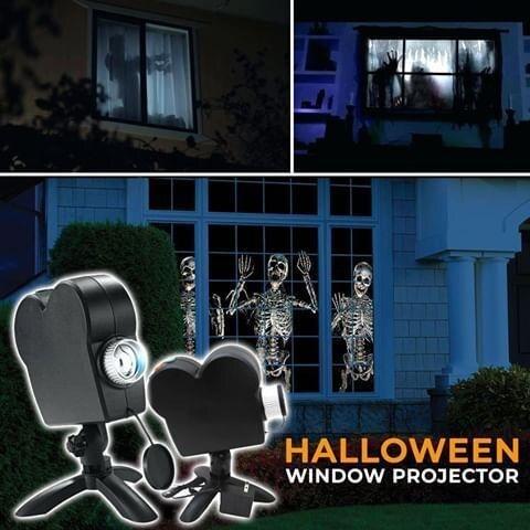 عيد الميلاد هالوين جهاز عرض ليزر 12 أفلام ديسكو ضوء نافذة صغيرة عرض المنزل العارض داخلي في الهواء الطلق العجائب العارض