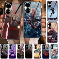 spiderman homecoming marvel tempered glass phone case casev for huawei p40 pro%c2%a0lite 5g%c2%a0p30 p smart z 2019 p10 lite%c2%a0p20 p50