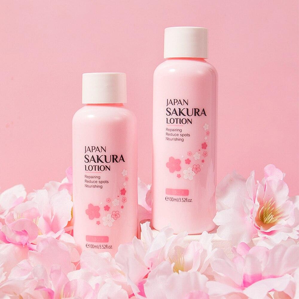Лосьон для лица LAIKOU Sakura, увлажняющая эссенция, питание, осветление, сужение пор, восстановление кожи, уменьшение пятен, уход за кожей лица