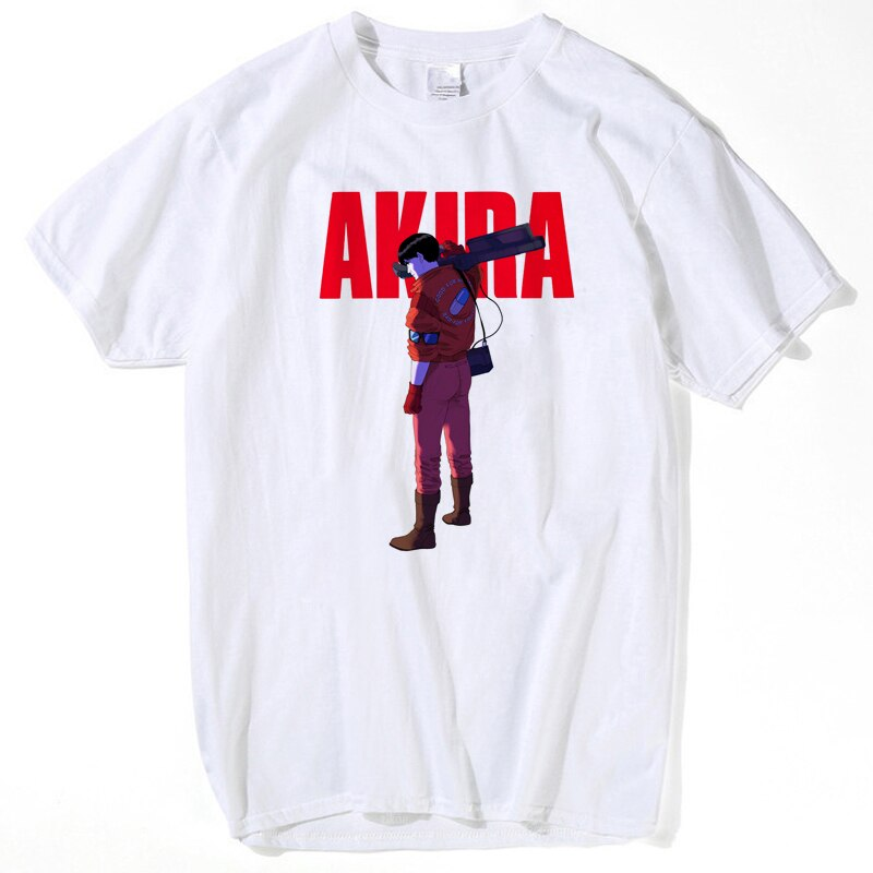 Welcome To Neo Tokyo Men T Shirt women Akira Shotaro Kaneda Motorcycle Funny T Shirts Short Sleeve Cotton Custom Brand Clothing