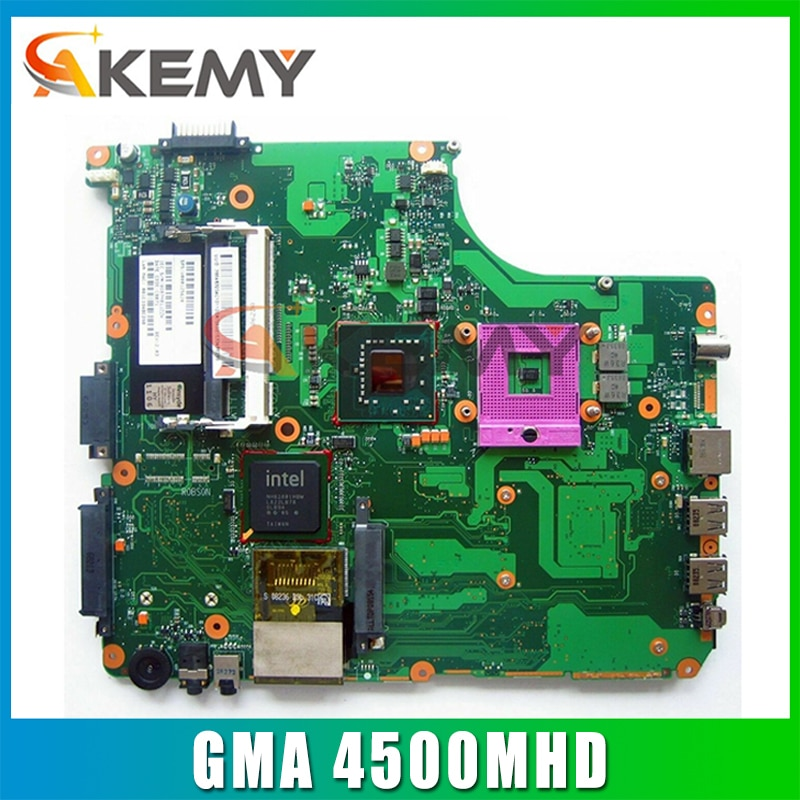AKEMY اللوحة الأم للكمبيوتر المحمول توشيبا A300 A300D V000125610 1310A2169427 إنتل GM965 GMA 4500MHD DDR2 اللوحة الرئيسية