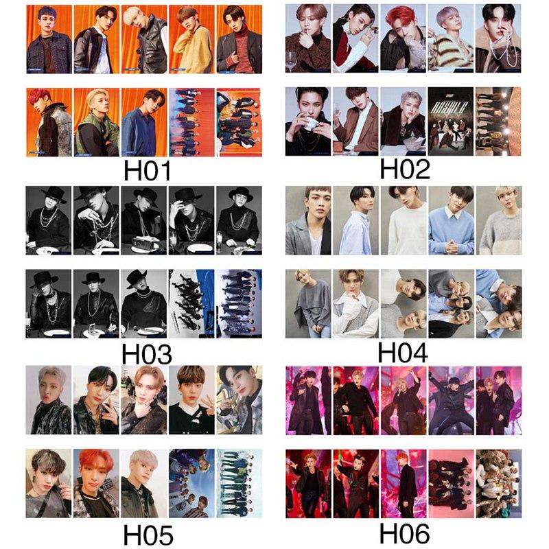 10 pçs/set kpop ateez photocard cartão tesouro ep. fin tudo para ação álbum de fotos cartão ateez kpop lomo cartões recém chegados