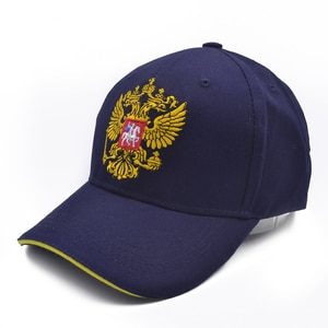 Neutral Cotton Russia Badge Baseball Cap Russia Badge Embroidery Snapback Fashion Sports Hat Men and women with Patriot Hat bone
