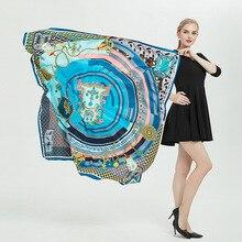56 Colour Women Scarf Fashion Foulard Satin Shawl Scarfs Big Size 51 Inch 100% Silk Hair Scarves Bandana Pashmina Animal Print