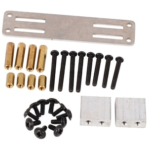 2 Set RC Car Part: 1 Pcs Metal Servo Fixed Mount Bracket Kit Parts & 1 Set Car Metal Servo Fixed Mount Bracket Kit