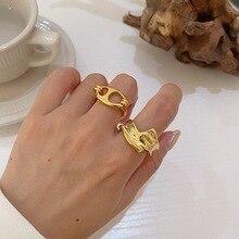 Геометрическая Кнопка регулируемые Открытые Кольца минималистский нерегулярные полое кольцо необычные панк кольца для Для женщин вечерние ювелирные изделия Кольца      АлиЭкспресс