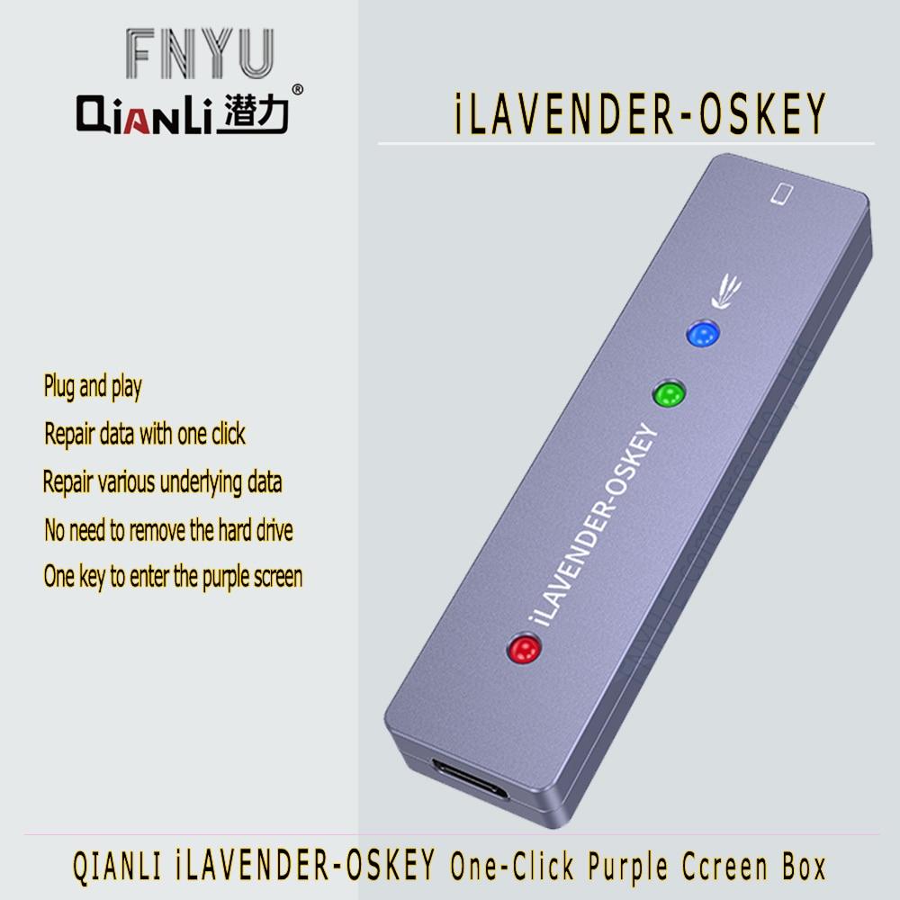 ILAVENDER-OSKEY القرص الصلب لجهاز iPhone SE 6 to X و iPad ، بنقرة واحدة في وضع DFU ، قراءة الشاشة الأرجوانية ، لجهاز iPhone SE 6 to X و iPad