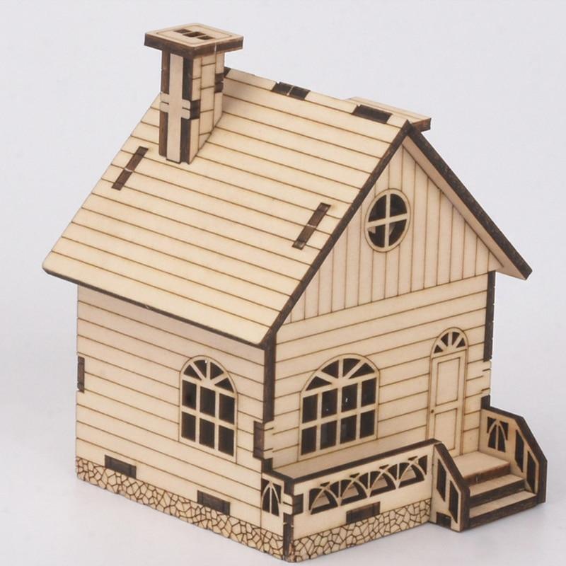 DIY Wooden Music Box Model Kit House Educational Science Assembly Building Blocks Toys for Children