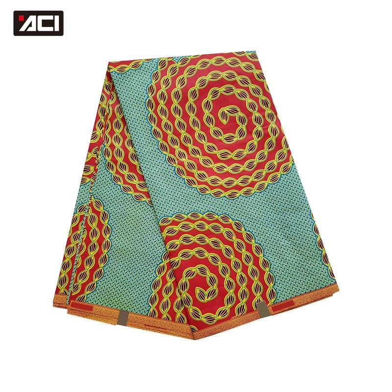 ACI verdadera cera telas africanas Ankara 6 yardas/pieza verdadera cera Africana impresa tela Tissu Africana Nigeria cera para fiesta