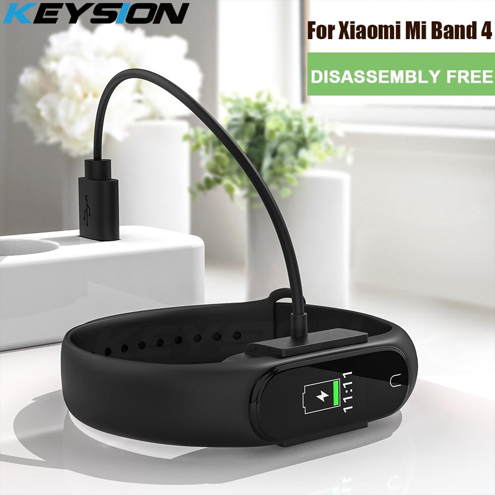 Desmontaje KEYSION Cable de cargador rápido gratuito para Xiaomi mi Band 4 cargador USB global base de carga para Xiaomi mi Smart Band 4