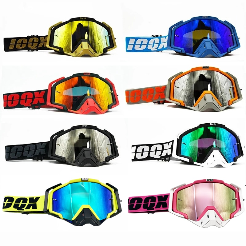Moto Sunglasses Motorcycle Outdoor Glasses Goggles ATV For Motocross Casque IOQX MX Helmet