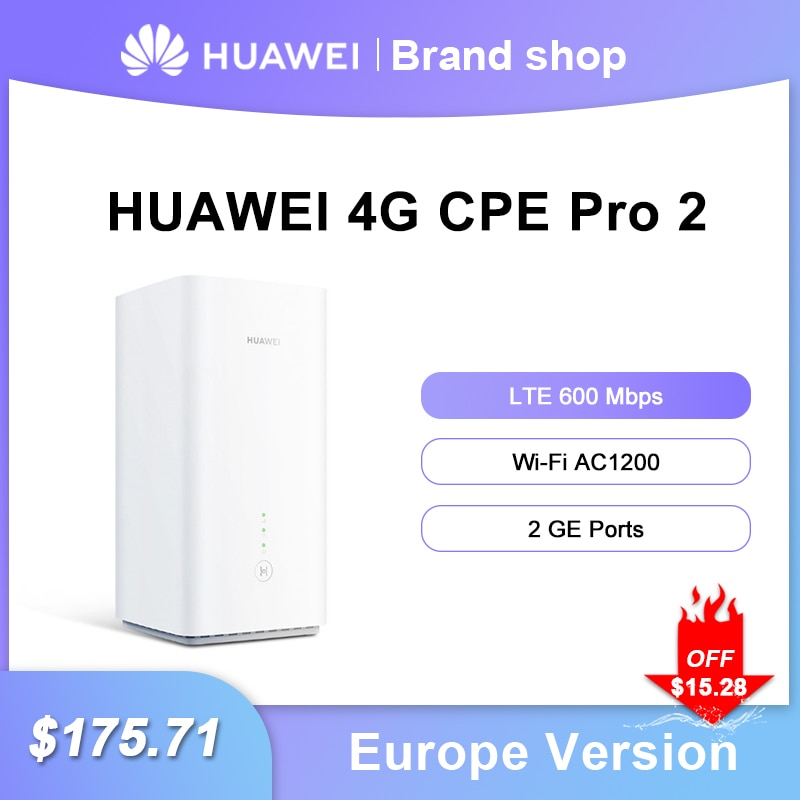 Unlock HUAWEI 4G WiFI Router With Sim Card Pro 2 B628-265 LTE Cat12 Up To 600Mbps 2.4G 5G AC1200 LTE WIFI Router Europe Version