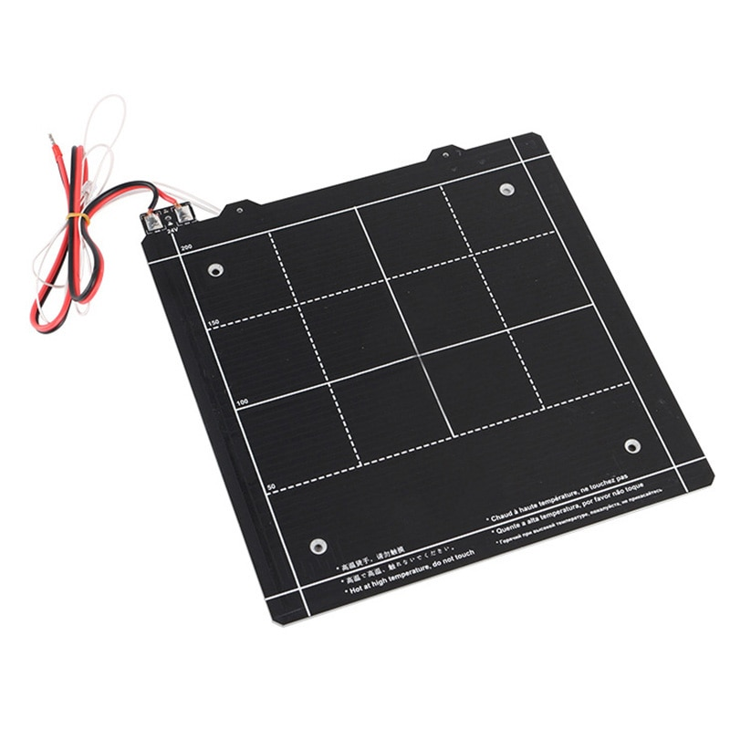 Resistente ao Calor Peças de Impressora para Ender-3 Novo Quente Impressora Cama Aquecida Magnética 24v 3d