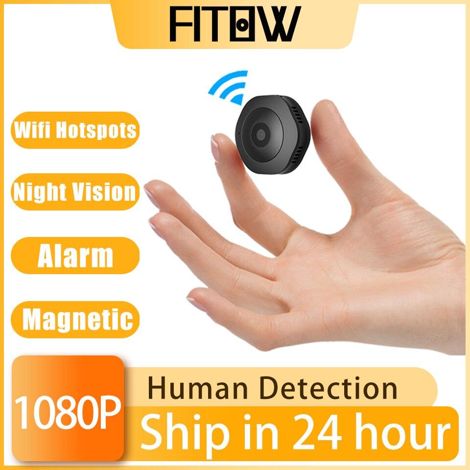 Câmera de Vigilância Câmera de Segurança em Casa Monitor do Bebê hd sem Fio Taida Wifi Mini Pequena Câmera ip 1080p