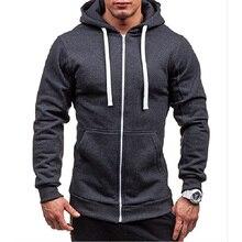 Plus Size Men Autumn Winter Hoodies Tracksuit Man Drawstring Pocket Hooded Sweatshirt Long Sleeve Zip Slim Coat Male Jacket