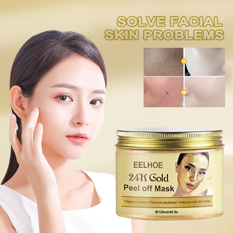 80g/120g 24k Gold Face Mask Serum Fade Neck lines Cream Snail Golden Deep Moisturizing Sleeping Mask