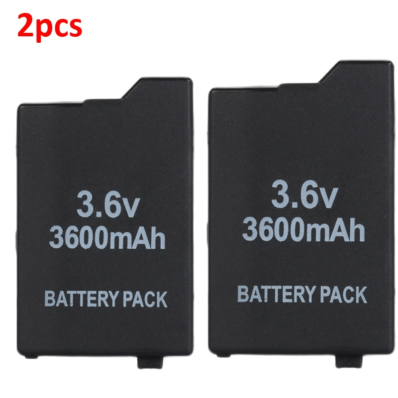 2pcs 3.6V 3600mAh Rechargeable Li-ion Battery Pack for Sony PSP2000 PSP3000 PSP 2000 3000 Console Gamepad Replacement Batteries 4pcs 3 6v 2400mah psp 2000 batteries for sony psp2000 psp3000 console