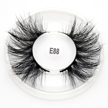 Visofree Mink Eyelashes 25mm Lashes Handmade Natural Thick Eye Lashes Makeup Extention 3D Mink Hair