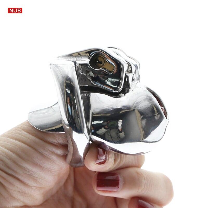 HT V3 jaula de pene MICRO pequeño dispositivo de castidad nuevo V3 versión de acero NUB jaula de castidad dispositivo BDSM Juguetes