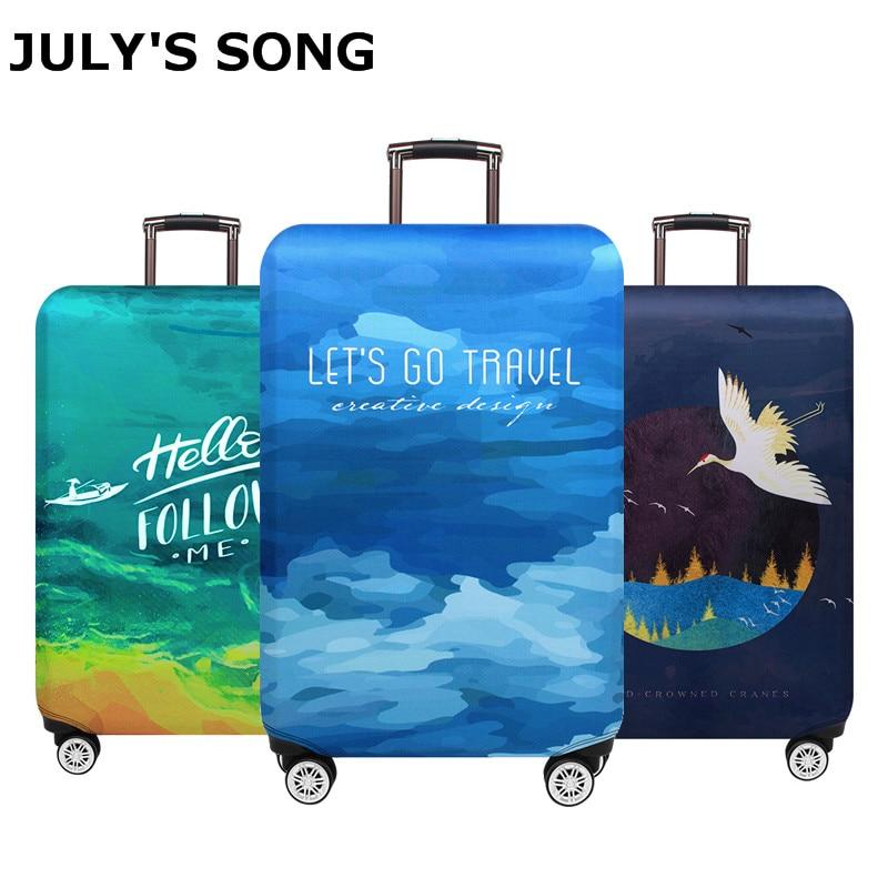 Защитный чехол для багажа JULYS SONG, эластичный защитный чехол для чемодана на колесиках 18-32 дюйма