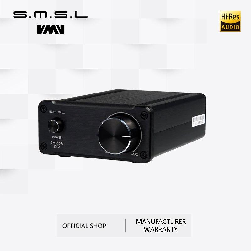 SMSL SA-36A برو أمبير ايفي القوى الكبرى الرقمية المتكاملة Tripath ستيريو مكبر للصوت مع 12V 3.8A الطاقة محول الأسود الفضة الذهب
