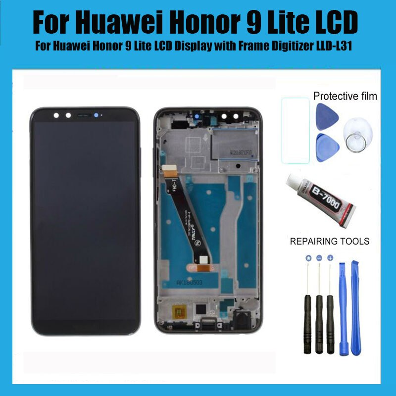 Para Huawei Honor 9 lite LCD pantalla táctil para Huawei Honor 9 Lite pantalla LCD con marco digitalizador LLD-L31