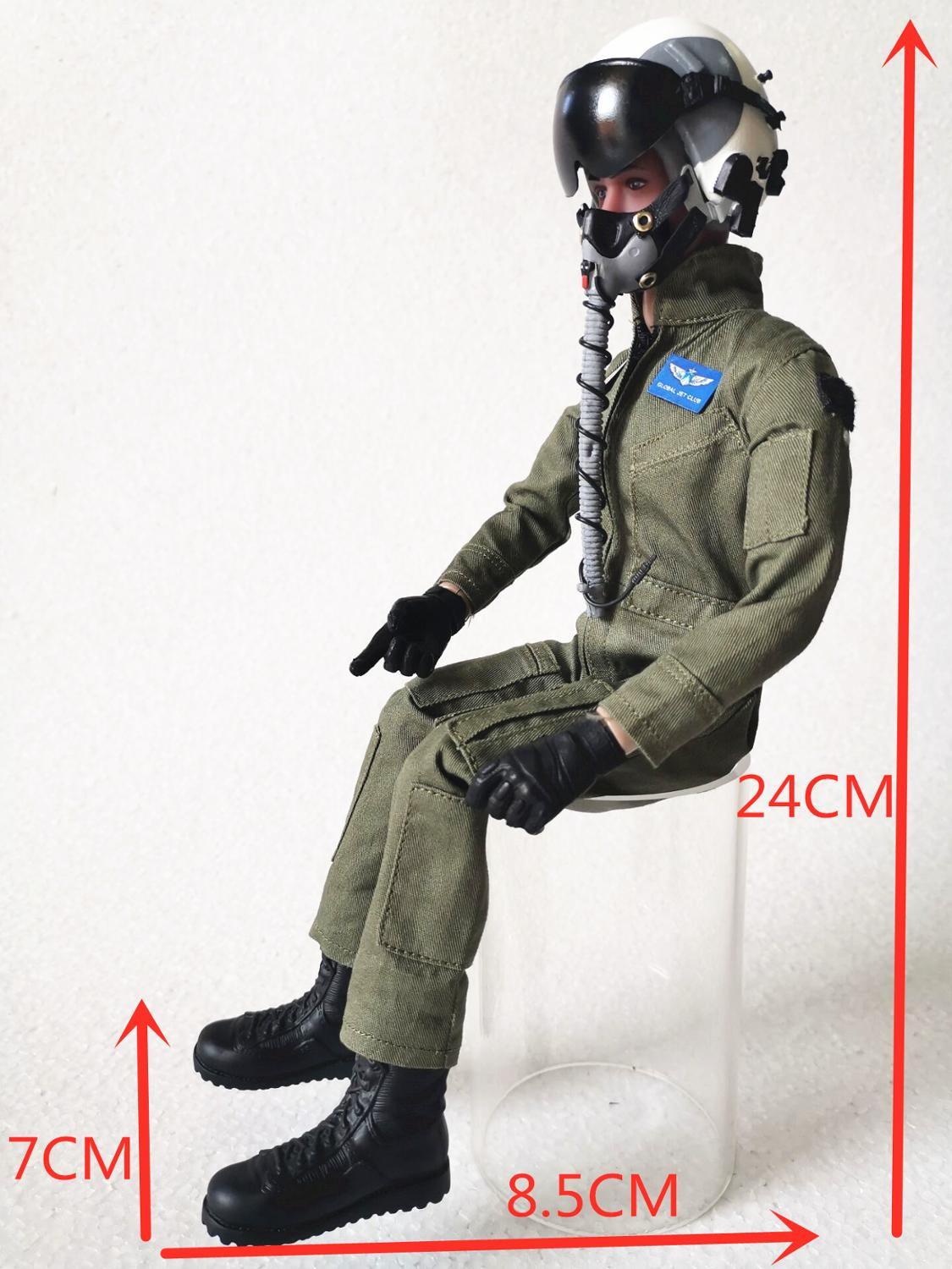 1/6 Scale Figure Pilot Toy Model With Headset Glass for turbine jet  RC Plane enlarge