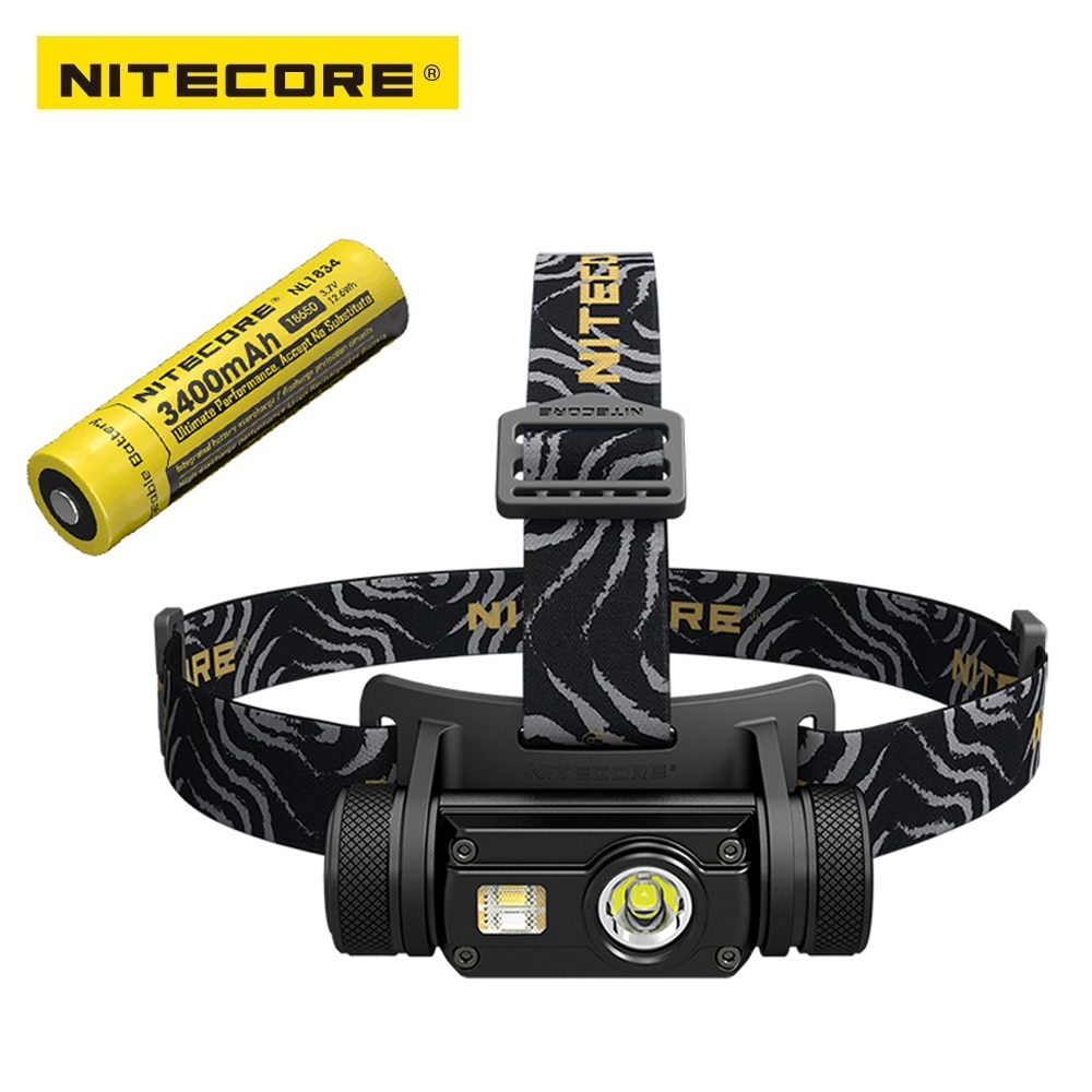 Original nitecore hc65 farol 1000lm saída tripla ourdoor farol lanterna à prova dwaterproof água incluído 1pc 3400mah 18650 bateria