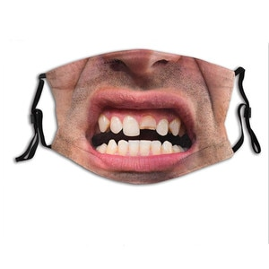 Adult Halloween Face Mouth Masks Sunscreen Funny 3d Printed Washable Reusable Cloth Face Mask Adjustable Outdoor Mascarillas